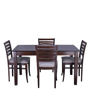 Maag 5 Piece Solid Wood Dining Set