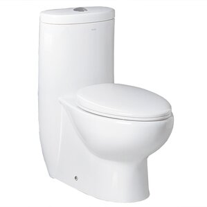 small round toilet seat. Hermes Contemporary Dual Flush Elongated One Piece Toilet Modern Toilets  Shop for a AllModern
