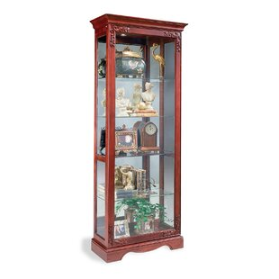 Andante Lighted Curio Cabinet