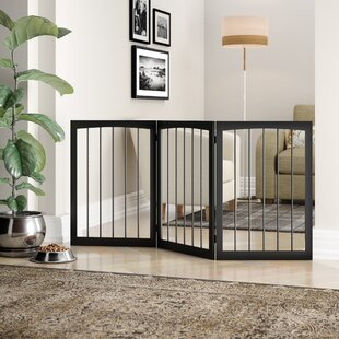 Wooden Free Standing Adjustable Pet Gate by PawHut