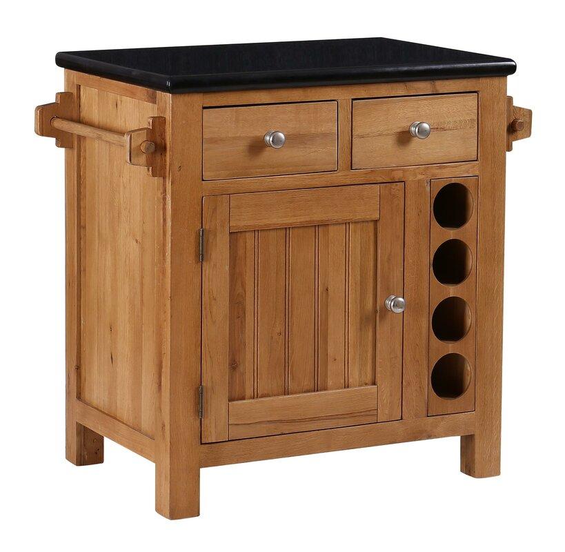 Hazelwood Home Kücheninsel mit Granitplatte& Bewertungen Wayfair de