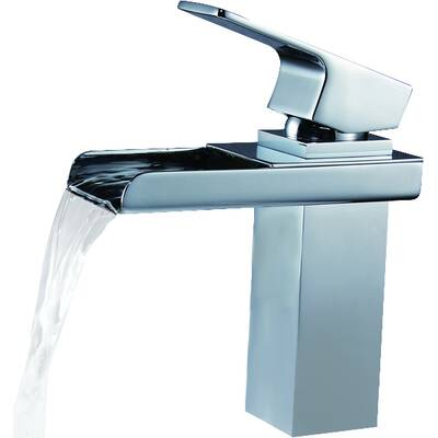Deck Mount Waterfall Bathroom Sink Faucet With Hoses Reviews