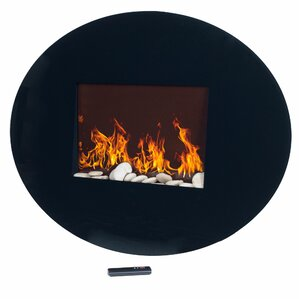 Oval Wall Mount Electric Fireplace by Northwest