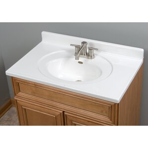 recessed center oval bowl 31 single bathroom vanity top - Bathroom Cabinets Sink
