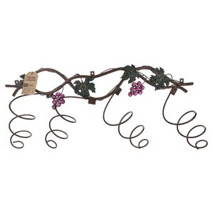 Grapevine? 4 Bottle Wall Mounted Wine Bottle Rack by Twine