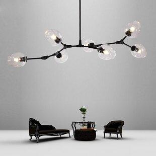 Glass bubble chandelier wayfair ivanka bubble globe branch 7 light sputnik chandelier aloadofball Choice Image