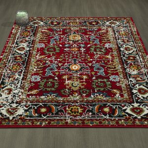 Adrianne Red Area Rug