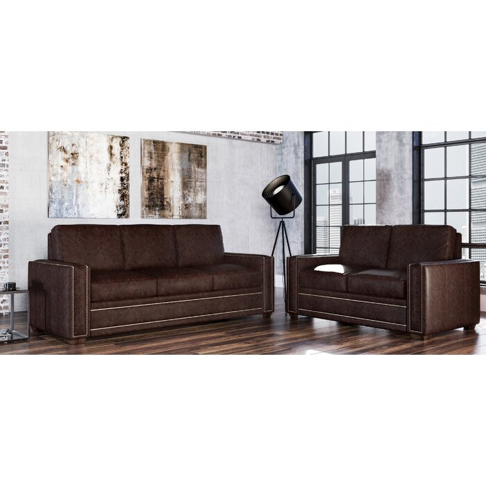 Dallas 2 Piece Leather Living Room Set