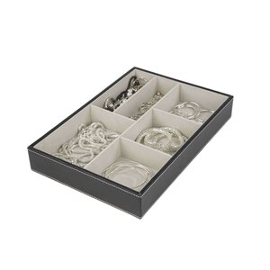 6 Compartment Jewelry Accessory Tray