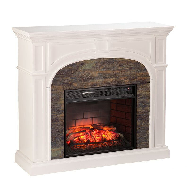 Small Electric Fireplace three posts boylston stacked infrared electric fireplace & reviews