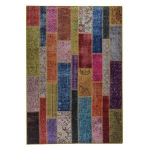 Adna Hand woven Pink/Green/Blue Area Rug