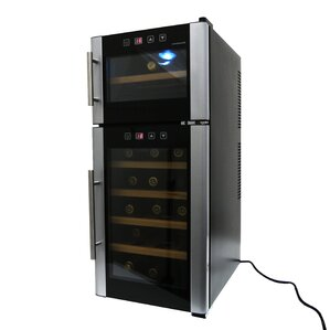 21 Bottle Dual Zone Freestanding Wine Cooler by Homeimage