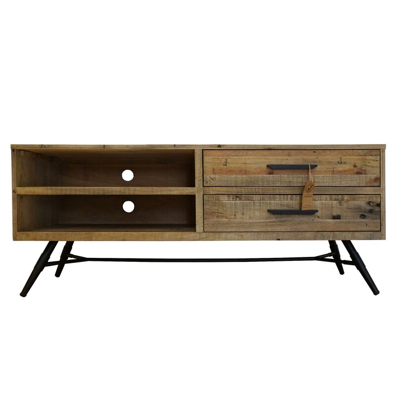 Union Rustic Travis Heights Tv Stand For Tvs Up To 78 Wayfair
