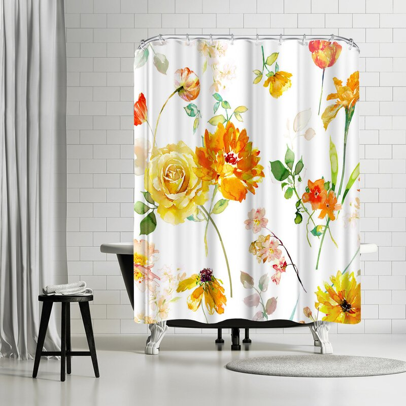 East Urban Home Harrison Ripley Peony Shower Curtain
