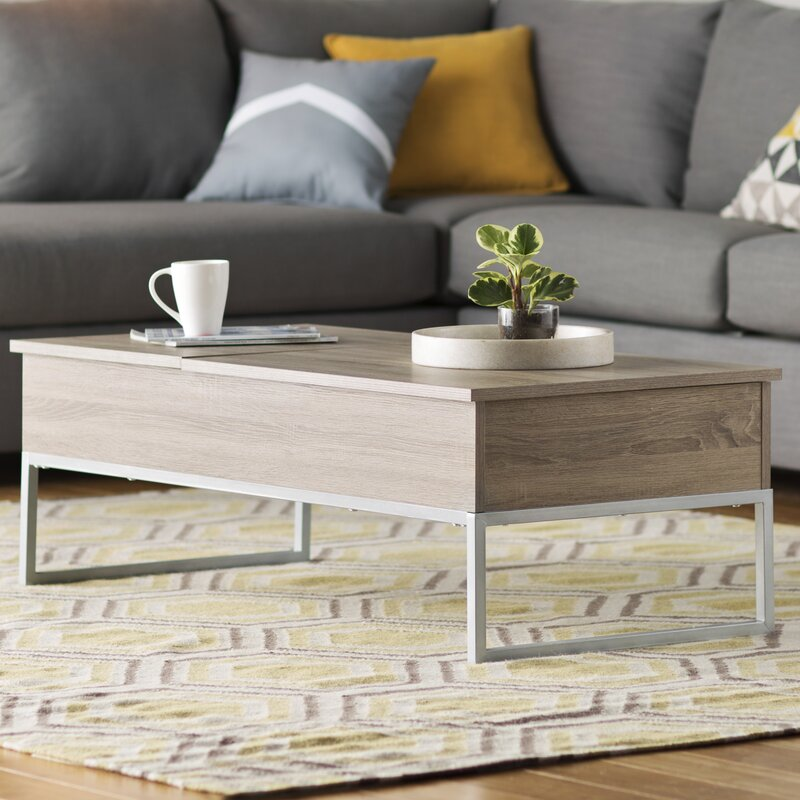 Pettis Coffee Table With Lift Top
