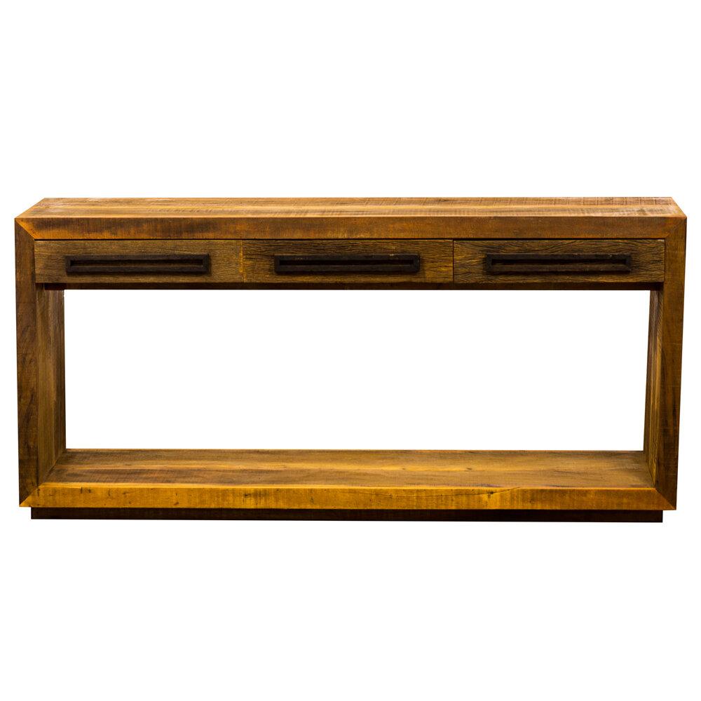 Loon Peak Ornellas 3 Drawers Bottom Shelf Console Table | Wayfair
