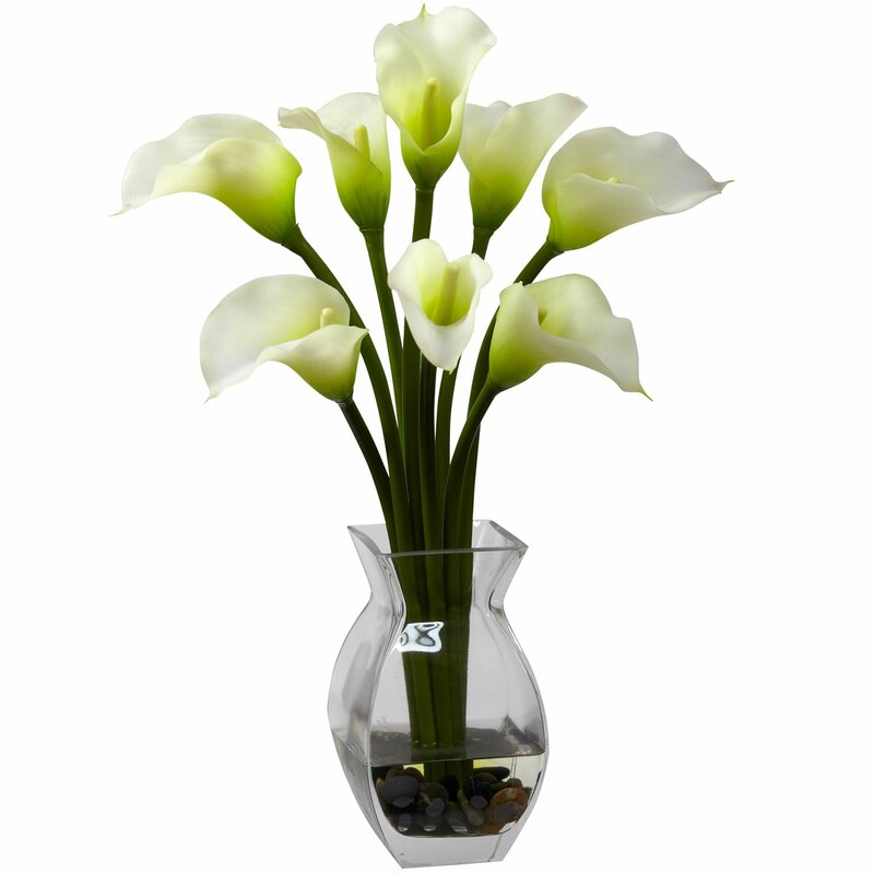 Willa Arlo Interiors Silk Calla Lily In Vase Reviews Wayfair
