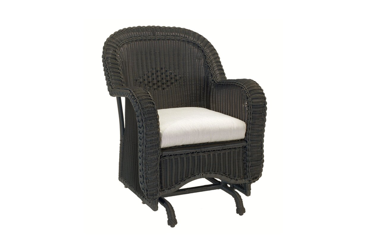 Wayfair Swivel Glider Chair: Summer Classics Wicker Single Glider Chair With Cushions