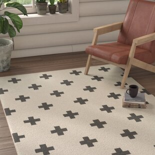 Shopping for Litten Hand-Crafted White/Black Area Rug ByUnion Rustic