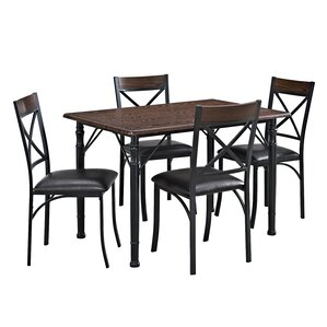 Nathanael 5 Piece Dining Set by Laurel Foundry M..
