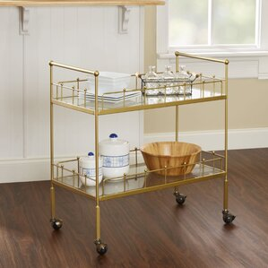 Vadnais 2-Tier Rectangular Bar Cart by..