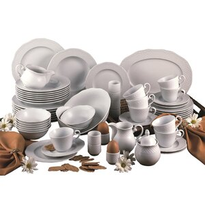 Arianne 61 Piece Dinnerware Set with Mug, Service for 8