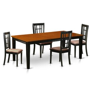 Pilger 5 Piece Extendable Dining Set Fresh