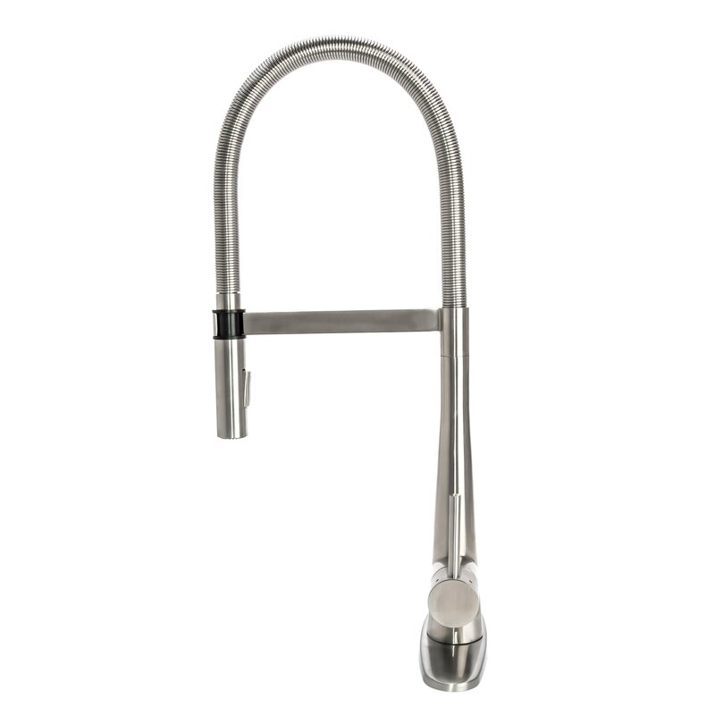 S7375 Dp Gourmet Spring Pull Down Single Handle Kitchen Faucet With Deck Plate
