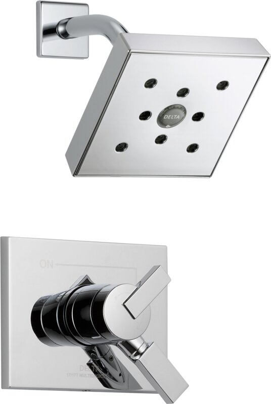 Delta Vero Shower Faucet Trim with Lever Handles and H2okinetic ...