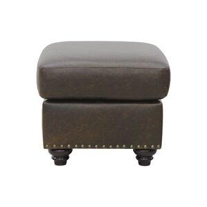 Mason Leather Ottoman by Luke Leather