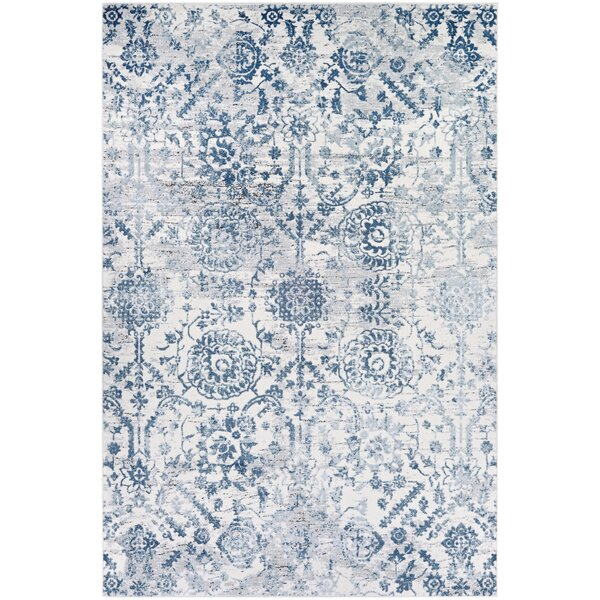 The Twillery Co Emily Steel Blue Area Rug Amp Reviews Wayfair