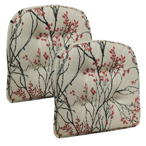myla gripper tufted dining chair cushion set of 2