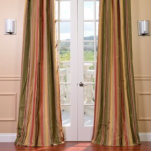 randel striped blackout thermal pinch pleat single curtain panel