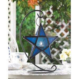 Star Table Iron Lantern