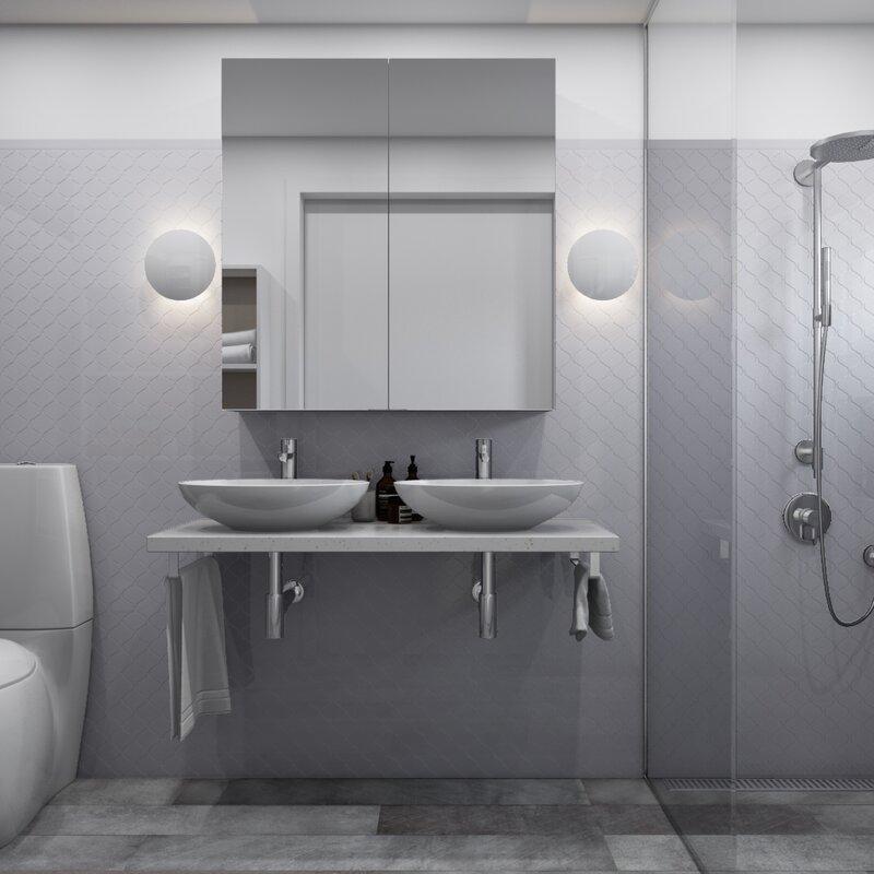 Giorbello Arabesque 3 X 3 Porcelain Mosaic Tile In Light Gray