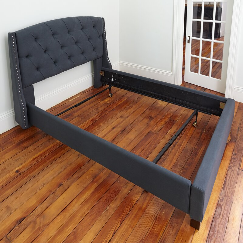 Alwyn Home Standard Heavy Duty Adjustable Metal Bed Frame With