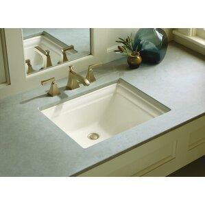 Memoirs® Vitreous China Rectangular Undermount Bathroom Sink With Overflow