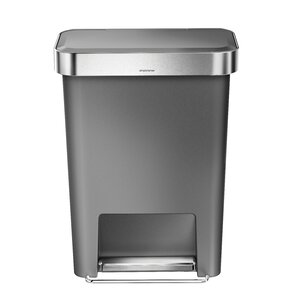 decorative outdoor garbage cans. Plastic 11 9 Gallon Step On Trash Can Cans You ll Love  Wayfair