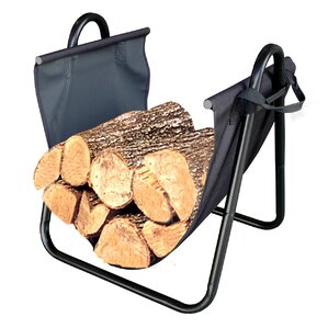 firewood log holder with canvas carrier - Firewood Carrier