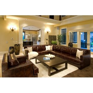Living Room Leather Sectionals left facing sectional sofas you'll love   wayfair