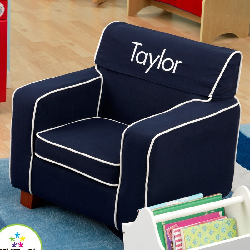 Awesome Laguna Personalized Kids Club Chair