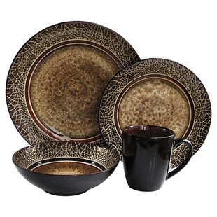 Markham 16 Piece Dinnerware Set Service for 4  sc 1 st  Wayfair & Red Dinnerware Sets You\u0027ll Love