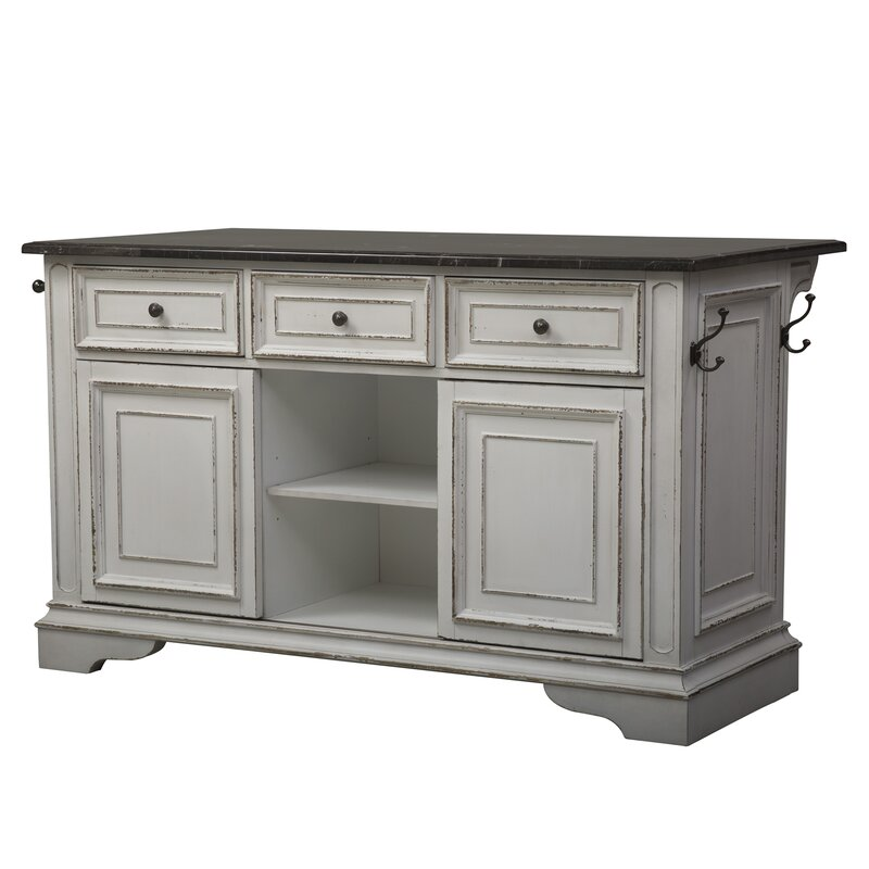 Kitchen Island With Granite Top: Lark Manor Tiphaine Kitchen Island With Granite Top