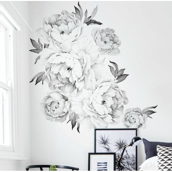 Simpleshapes peony flowers wall decal reviews wayfair peony flowers wall decal mightylinksfo