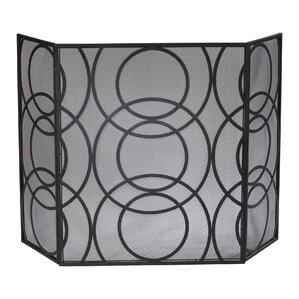 metal fireplace screens. Orb 3 Panel Iron Fireplace Screen Screens  Doors You ll Love Wayfair