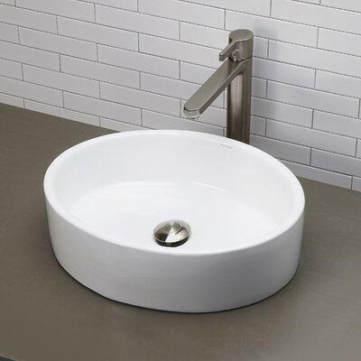 Bathroom Fixtures Vernon elite ceramic elliptical oval vessel bathroom sink & reviews | wayfair