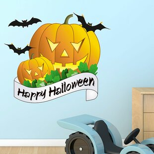 Happy Halloween Wall Sticker by East Urban Home