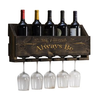 Godley Le Luxe Engraved Always Be 5 Bottle Wall Mounted Wine Rack
