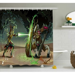 Anime Animal Comics Superheros With Dangerous Wild Powers Goat Rays Lights Print Shower Curtain