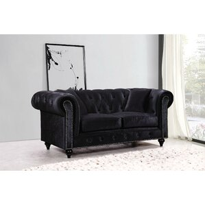 Garrett Chesterfield Loveseat by Rosdorf Park